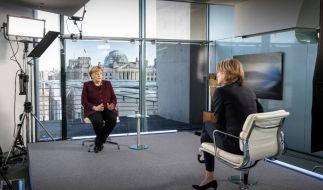 Die Coronavirus-News von Samstag: Kanzlerin Merkel möchte eine dritte Welle in Deutschland gern verhindern. (Foto)