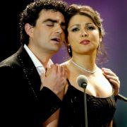 Rolando Villazón mit Anna Netrebko im Jahr 2005.