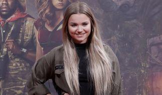 """Julia Beautx bei der Premiere des Kinofilms """"Jumanji: Willkommen im Dschungel"""" im Jahr 2017. (Foto)"""