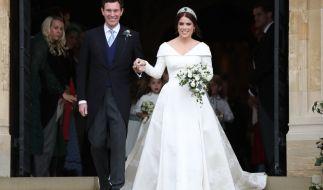 Prinzessin Eugenie und Jack Brooksbank begrüßten am 9. Februar ihren ersten Sohn. Das Ratespiel hat begonnen: Wer sind dessen Taufpaten? (Foto)
