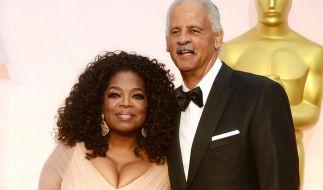 Oprah Winfrey mit ihrem Ehemann Stedman Graham bei den Oscars 2015. (Foto)