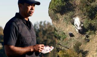 Bei einem Autounfall verletzte sich Tiger Woods schwer. (Foto)