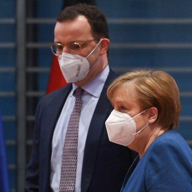 Fiese Schnelltest-Klatsche! Merkel lässtJens Spahn auflaufen (Foto)