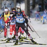 Vom 4. bis 14. März treten die Damen beim Biathlon-Weltcup in Nove Mesto wieder an. (Foto)