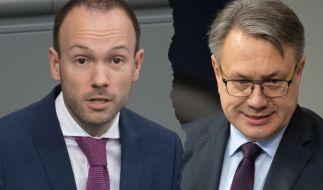 Nach heftiger Kritik wegen Privatgeschäften mit Corona-Masken haben Nikolas Löbel (CDU) und Georg Nüßlein (CSU) nun Konsequenzen gezogen. (Foto)