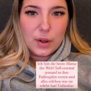 Joelina Karabas macht ihrer Mutter Daniela Büchner ein zu Herzen gehendes Kompliment.