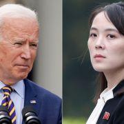 Kim Jong-uns Schwester droht US-Präsident Joe Biden (Foto)