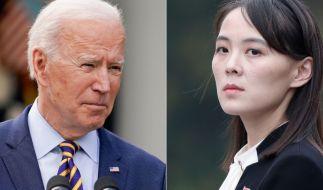 Kim Jong-uns Schwester droht US-Präsident Joe Biden. (Foto)