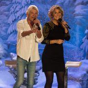Kim Fisher und ihr Ex-Freund Matthias Reim singen bei der Generalprobe vor der Aufzeichnung der MDR-Sendung
