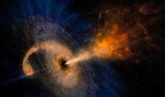 Ein gigantisches Schwarzes Loch rast durch den Weltraum. (Foto)