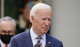 """Joe Biden nahm kein Blatt vor den Mund und bezeichnete Putin als """"Mörder"""". (Foto)"""
