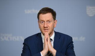 Michael Kretschmer (CDU), Ministerpräsident von Sachsen, hält die Corona-Lockerungen für gescheitert. (Foto)