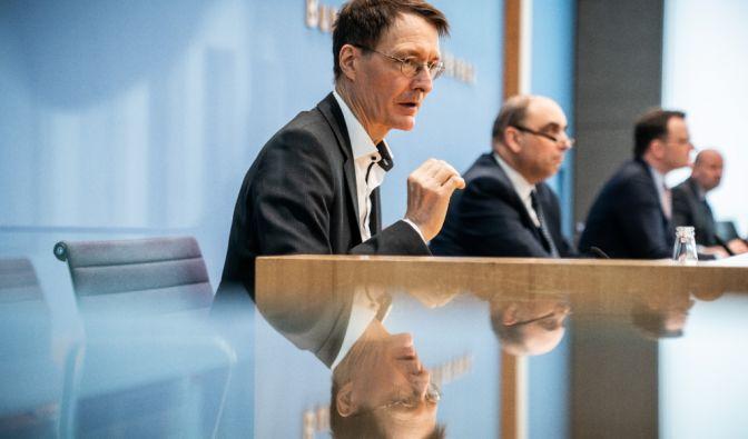 Karl Lauterbach bei der RKI-PK