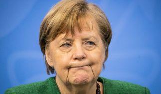 Merkel und die Minister trafen sich am Montag um den Oster-Lockdown zu besprechen. (Foto)