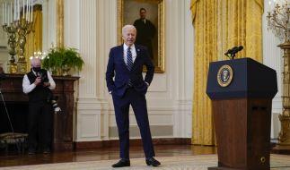 US-Präsident Joe Biden sorgte bei seiner ersten formellen Pressekonferenz für Spekulationen um seinen Gesundheitszustand. (Foto)