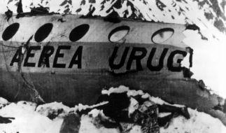 Die Aufnahme der Rettungsmannschaft zeigt das schneebedeckte Flugzeugwrack in den chilenischen Anden und eine der Leichen. (Foto)