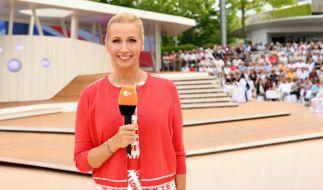"Bald begrüßt Andrea Kiewel sonntags wieder zahlreiche TV-Zuschauer aus dem ""ZDF-Fernsehgarten"". (Foto)"