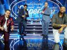 Die diesjährigen DSDS-Finalisten Kevin Jenewein, Starian McCoy, Jan-Marten Block und Karl Jeroboan. (Foto)