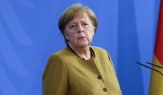 Kanzlerin Merkel lässt sich mit dem Vakzin von Astrazeneca impfen. (Foto)