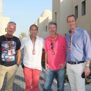 (v.l.) Christian Danner, Kai Ebel, Heiko Wasser und Florian König waren viele Jahre lang für RTL an der Rennstrecke im Einsatz. (Foto)