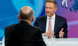 """Christian Lindner drohte Olaf Scholz bei """"Maybrit Illner"""". (Foto)"""