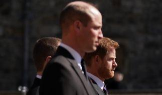 William und Harry wirkten eiskalt bei der Trauerfeier für Prinz Philip. (Foto)