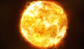 Am Wochenende soll ein Sonnensturm auf die Erde treffen. (Foto)