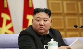 Kim Jong-un behauptet, es gäbe nicht einen Corona-Fall in Nordkorea. (Foto)