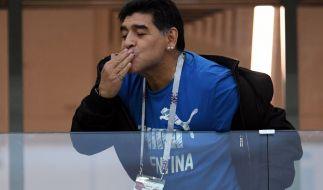 Die argentinische Fußball-Legende Diego Maradona starb am 25. November 2020 mit nur 60 Jahren. (Foto)