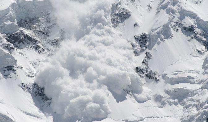 Schneelawine in Norwegen