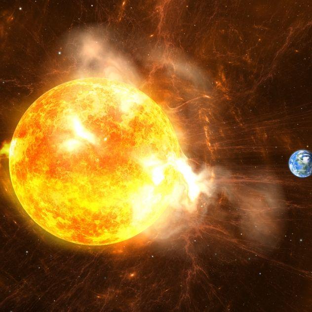 Sonneneruption kommt der Erde gefährlich nahe (Foto)