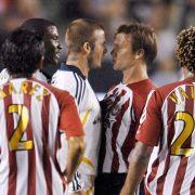 Jesse Marsch geriet hier als Spieler mit David Beckham aneinander (2007, im Hintergrund).