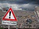 Sturmtief Eugen fegt über Deutschland. Erste Schäden wurden bereits registriert. (Foto)