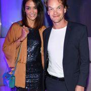 Ludwig Blochberger und seine Freundin Marta Buschy auf der Bertelsmann Party.
