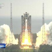 Gefahr gebannt! China-Rakete stürzt in Indischen Ozean (Foto)