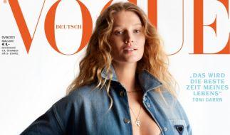 Toni Garrn posierte schwanger und ungeschminkt für die deutsche Vogue (Foto)