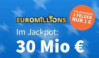 Am vergangenen Freitag lagen noch 30 Mio. Euro im Jackpot bei EuroMillions (Foto)