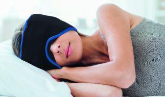 Die mysleepmask soll für einen angenehmen Schlaf trotz Kopfschmerzen sorgen. (Foto)