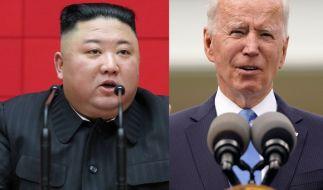 """Joe Biden zeigte sich """"sehr besorgt"""" über Kim Jong-uns Atomwaffenprogramm. (Foto)"""