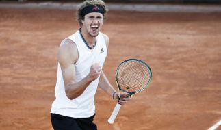 Der deutsche Tennisprofi Alexander Zverev geht bei den French Open 2021 an den Start. (Foto)