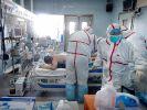 Ein mit Vogelgrippe (H7N9) infinzierter Patient liegt 2107 in einem Krankenhaus in Wuhan in der cinesischen Provinz Hubei. (Foto)