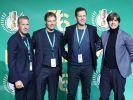 Torwarttrainer Andreas Köpke, Assistenztrainer Marcus Sorg und Teammanager Oliver Bierhoff (v.l.n.r) gehören zum Betreuer-Team der deutschen Fußball-Nationalmannschaft um Bundestrainer Joachim Löw. (Foto)