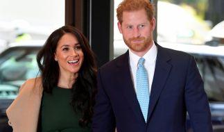 Der britische Prinz Harry, Herzog von Sussex, mit seiner Frau Meghan, Herzogin von Sussex. (Foto)