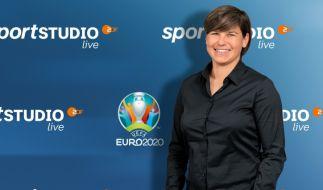 Ariane Hingst ist als Kommentatorin der Fußball-EM im ZDF zu hören. (Foto)