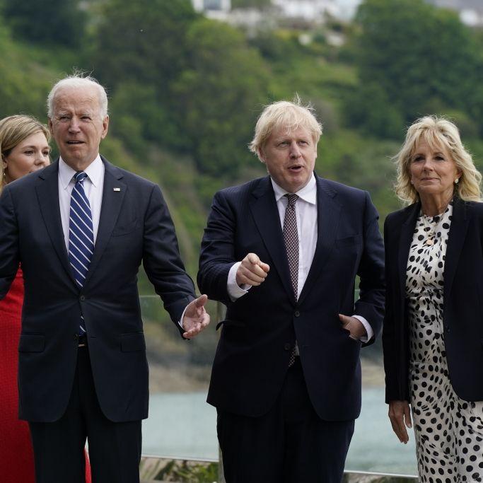Fummel-Eklat um Jill Biden! HIER greift Boris Johnson voll daneben (Foto)