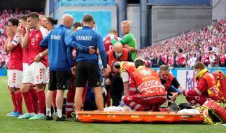 Der Nationalspieler Christian Eriksen ist beim EM-Spiel gegen Finnland kollabiert. (Foto)