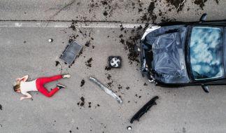 Eine schwangere Frau wurde von einem Mann überfahren. (Foto)
