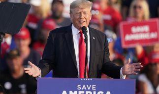 US-Präsident Donald Trump am Samstagabend während seiner Rede in Ohio. (Foto)