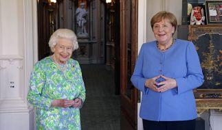 Angela Merkel besuchte Queen Elizabeth II. auf Schloss Windsor. (Foto)