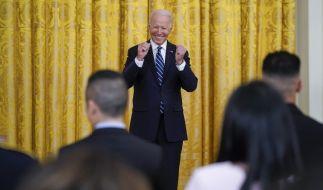 Joe Biden blamierte sich mit einer Rede im Weißen Haus. (Foto)